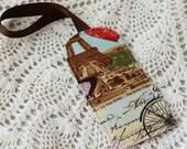 La Tour Eiffel -  Luggage Tag - Paris Travel