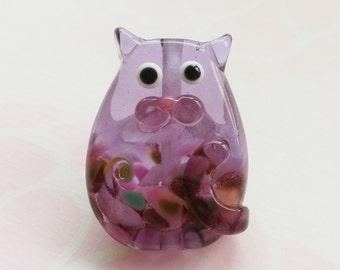 Lottie Classic Kitty Cat Lampwork Glass Bead Focal by keiara SRA