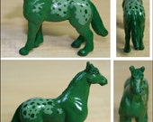 Paint Chip Pony: Green Appaloosa - Custom Model Horse Fantasy Color