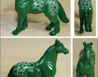 Paint Chip Pony: Green Appaloosa - Custom Model Horse Fantasy Color