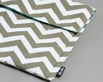 Laptop case, for Macbook 11inch/13inch/15inch, and other laptop models. Canvas/Padded/Chevron.