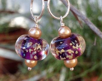 Stitch Marker Charms--Purple Set of 2