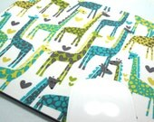 Buy 2 FREE SHIPPING Special!!   Mouse Pad, Computer Mouse Pad, Fabric Mousepad      Giraffe Love Lagoon