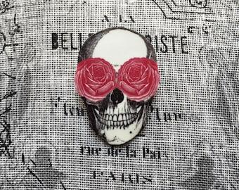 Skull Roses - Brooch