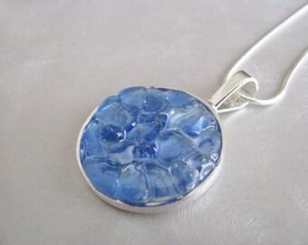 Sea Glass Jewelry - Cornflower Blue - Sea Glass Necklace - Beach Glass Jewelry