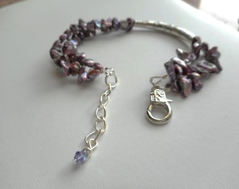 Fun With Petals ... FWP bracelet, double strand ... #482