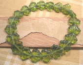 Czech Glass Olive 10x13mm Maple Leaf Beads - 20 Count