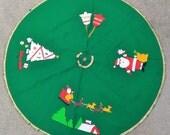 Vintage Felt Christmas Tree Skirt