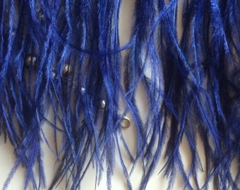OSTRICH FEATHER FRINGE /  Royal Blue  / 301