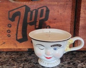 Baileys Winking Girl Coffee Cup Soy Candle - Cinnamon Chai Scent