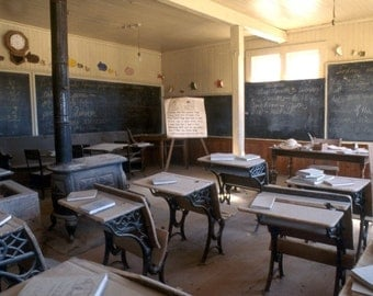 No School - Bodie, California ghost town - home, office, den, wall decor