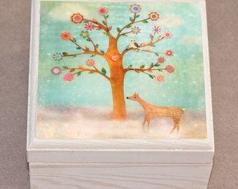 Owl and Deer Jewelry Box