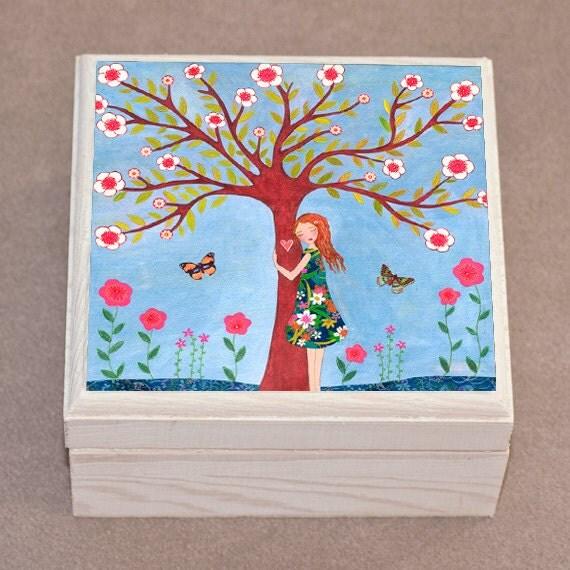 Jewelry Box, Nature Lover Jewelry box - Tree Hugger Jewelry Box - Handmade Jewelry Box - Wooden Jewelry Box Trinket Box