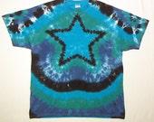 Tie Dye Star Shirt, Tie Dye Tshirt, adult XL Everybody is a Star!