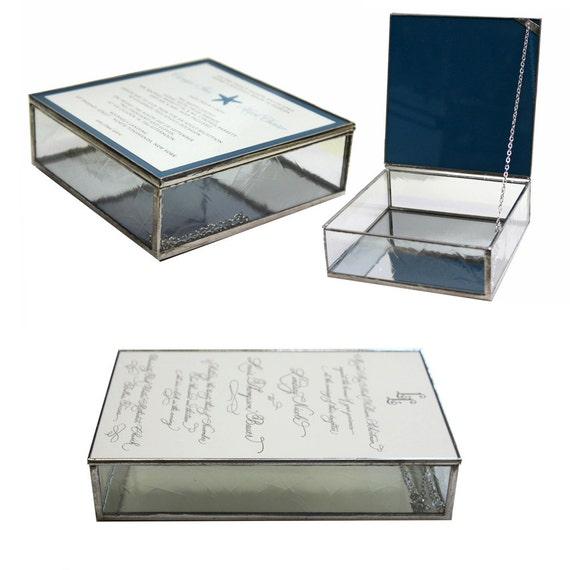 Glass wedding invitation keepsake box in five choices of clear like this item stopboris Choice Image