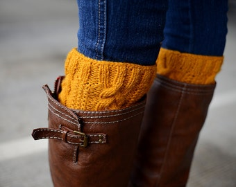 Cable Knit Boot Cuffs, Boot Toppers