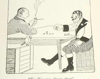 Too Too was Always There DR DOLITTLE illustration . Vintage Childrens Book Illustration 1920s . Hugh Lofting illustration circus tattoo man