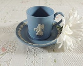 Wedgewood Teacup Tea Cup  Jasperware From Danbury Mint