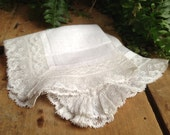 Vintage White Lace Ladies Handkerchief