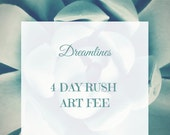 Rush Art Fee-4 Days For A Dreamlines Sketch- 1 Year Anniversary Gift, Wedding Gift, Valentine's Day Gift, Bridal Shower Gift