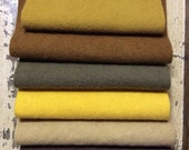 Hand dyed wool fabric