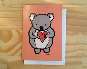 Koala with a Heart Greeting Card