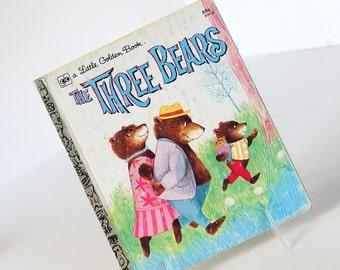 Vintage Children's Book, The Three Bears, Little Golden Book 1981