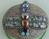 Dragonfly Mosaic Rock Garden Stone