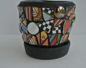 Mosaic Small Garden/Flower Pot/Planter #6