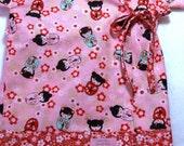 Baby Kimono Top in Sakura Dolls  -  The Original LivvySue Kimono - sizes 0-6 mth to 2T
