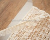 Ivory Eyelet Ruffle - 3 yards Vintage Fabric Trim New Old Stock Doll Clothes Ribbon