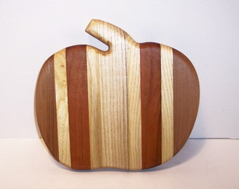 Pumpkin Cheese Cutting Board Handcrafted from Mixed Hardwoods