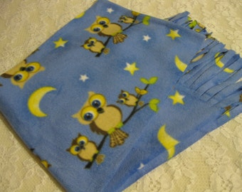 450+ Scarf Print Selection! Only at SylMarCreations!  Owls in Cute Winter Fleece Scarf