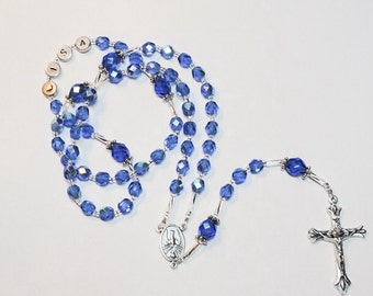 Personalized Rosary, Handcrafted, Color Choice, Custom, Confirmation