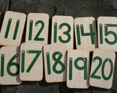 Sandpaper Numbers 11-20 mounted on birch