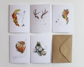 Pack of 5 Woodland Greeting Cards