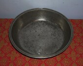 BOWL Antique German Pewter Basin Gottleib angel touchmark colonial