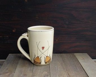 Brown cockroach mug, cockroach love bugs, insect mug, woodland cabin home decor