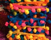 Rainbow Pom Pom Trim - 5 yards