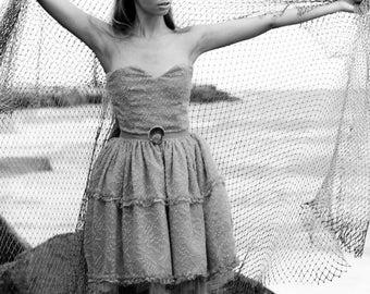 Arista, Mermaid Bridesmaid, Coral Seashell Dress