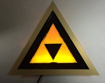 Glowing Triforce Light Art