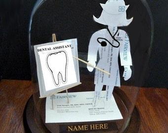 DDS Dentist Dental Assistant -Dental Hygeniest Business Card Sculpture
