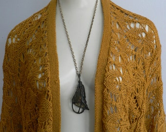 vintage 1960s brutalist metal pendant necklace / mid century brass abstract  pendant / modernist artisan jewelry