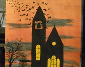 The church at dawn. The haunted construction co. Hauntingly beautiful paintings.