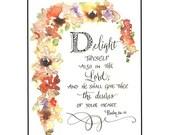 Handmade Christian Greeting Card in calligraphy