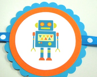 Robot Birthday Banner
