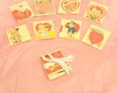 Miniature Vintage Valentine's Day Cards (1:12 scale)