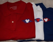 YEAR END SALE Disney Cruise Polo Shirts Adult  Red, White or Blue