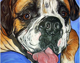 """CUSTOM 11x14"""" dog painting pet portrait dog art from your photo"""