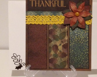 Thankful Card/Thanksgiving Card